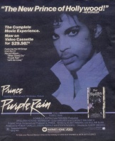 Purple Rain Home Video advert published in USA press, November 1984
