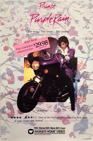 Purple Rain Home Video retail poster